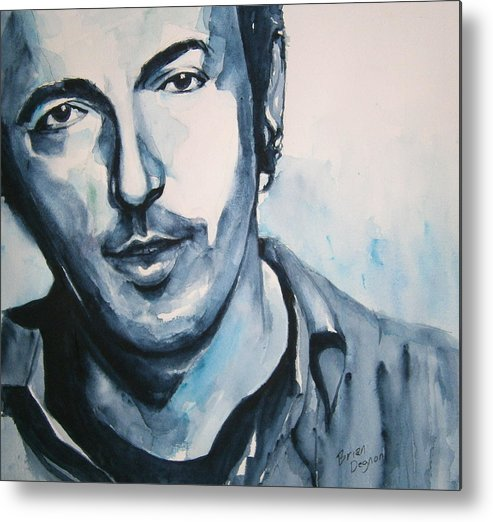 Springsteen Metal Print featuring the painting Springsteen by Brian Degnon