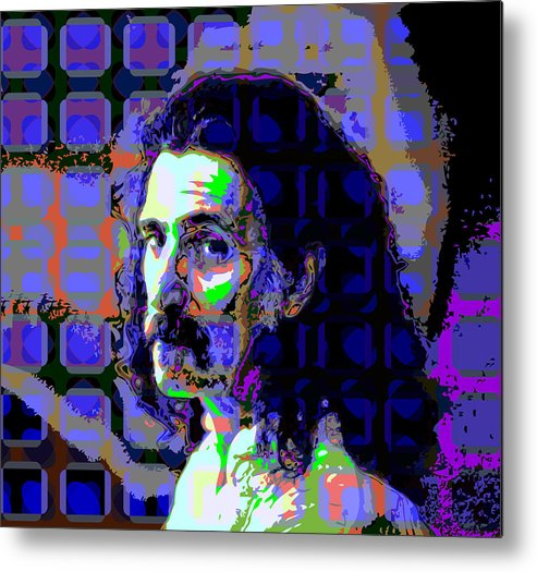 Colorful Metal Print featuring the digital art Zappa Blue by Scott Davis