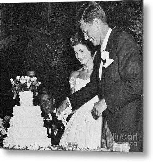 1953 Metal Print featuring the photograph John F. Kennedy (1917-1963) by Granger