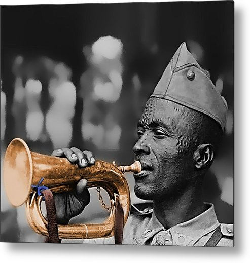 Belgian Metal Print featuring the photograph Belgian Musician - 1943 by Robert Bertino