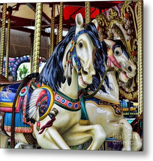 Carousel Metal Print featuring the photograph Carousel Horse 2 by Paul Ward