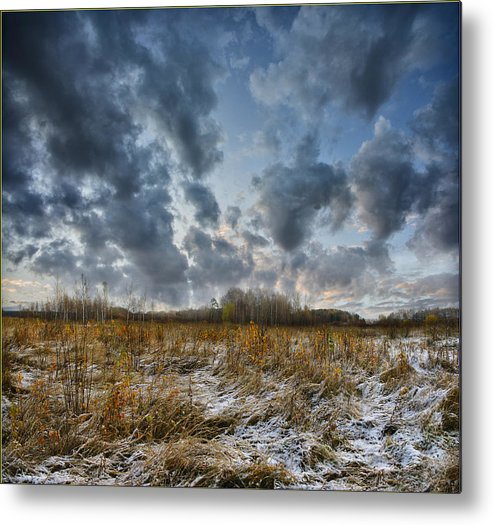 Landscape Metal Print featuring the photograph One Autumn Day by Vladimir Kholostykh