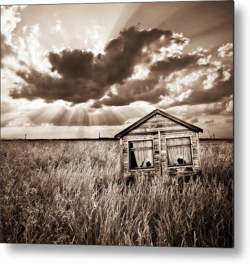 Shack Metal Print featuring the photograph Abandoned by Meirion Matthias