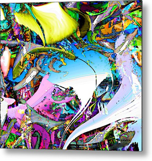 Abstract Metal Print featuring the digital art Beach by Dave Kwinter
