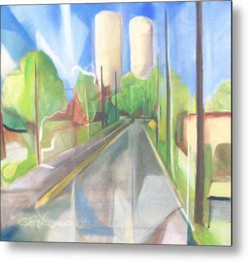 Painting Metal Print featuring the painting Bergen Turnpike by Ron Erickson