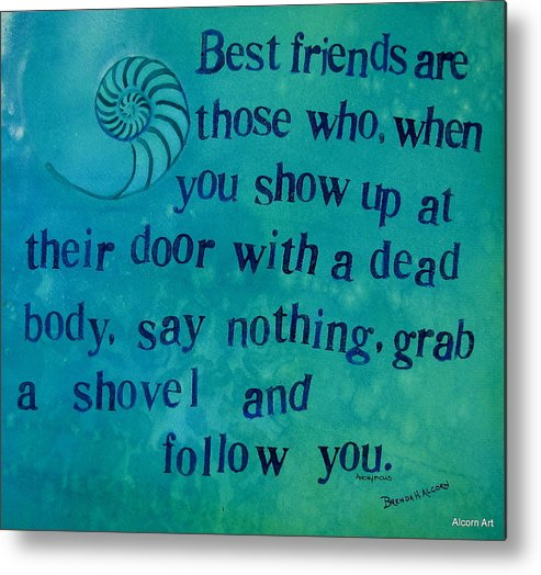 Nautilus Metal Print featuring the painting Best Friends by Brenda Alcorn