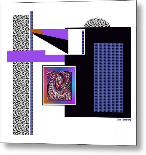 Abstract Metal Print featuring the digital art Encore by Iris Gelbart