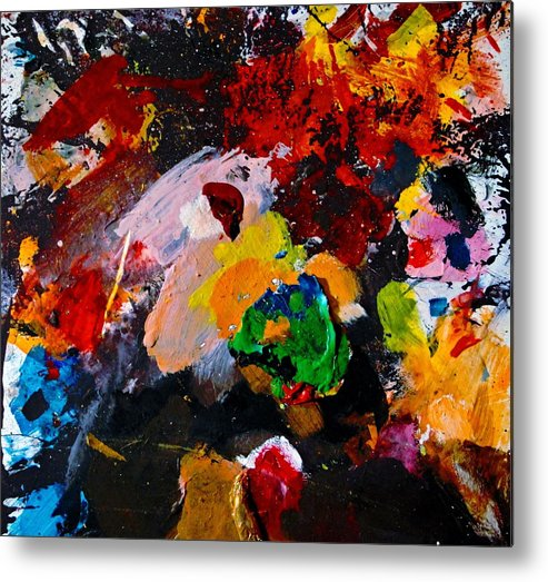 Abstract Metal Print featuring the painting Happy Harmony by Natalie Holland