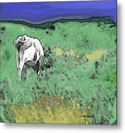 Abstract Metal Print featuring the photograph In The Sweet Fields by Lenore Senior