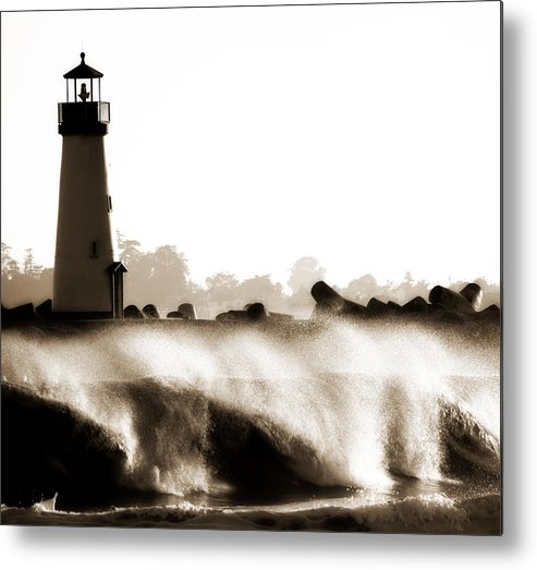 Lighthouse Metal Print featuring the photograph Lighthouse 3 Dreamy by Marilyn Hunt