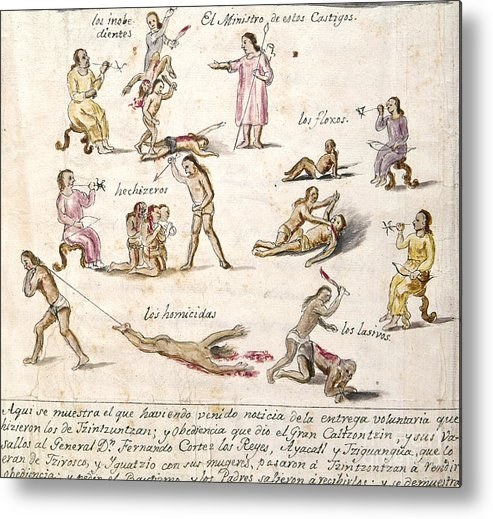1750 Metal Print featuring the photograph Mexico: Indian Punishments by Granger