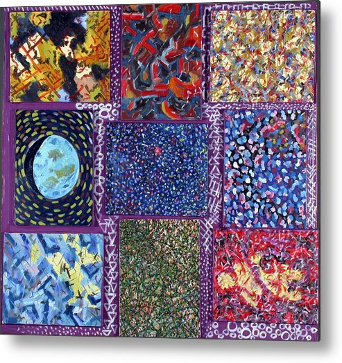 Metal Print featuring the painting Nine Canvases by Biagio Civale