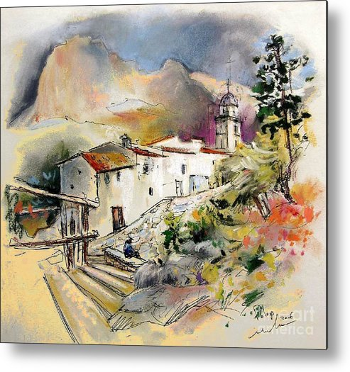 Pastel Painting Metal Print featuring the painting Polop De La Marina 01 by Miki De Goodaboom