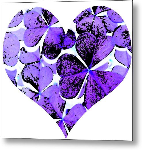 Clovers Metal Print featuring the photograph Purple Heart Art by Kami McKeon