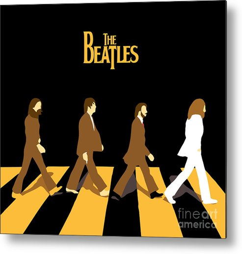 The Beatles Metal Print featuring the digital art The Beatles No.19 by Caio Caldas