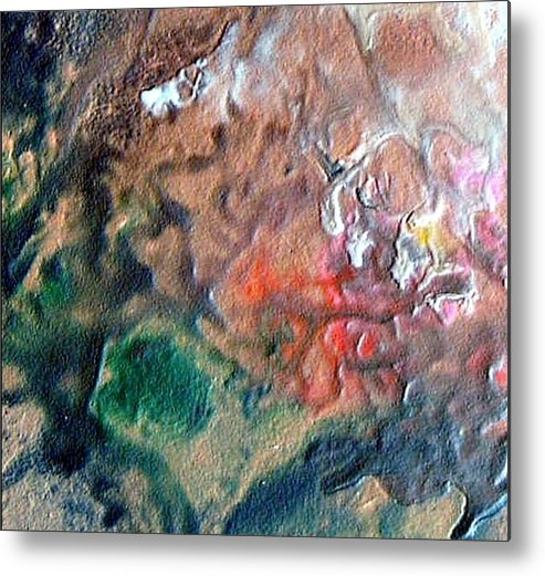 Tide Metal Print featuring the painting W 042 by Dragica Micki Fortuna