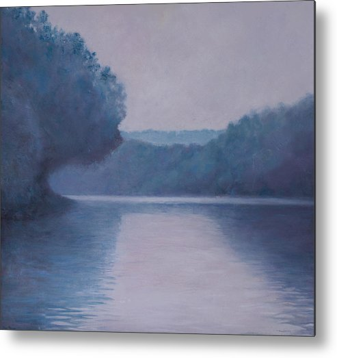 Impressionist Metal Print featuring the painting Whites Ferry by Don Perino