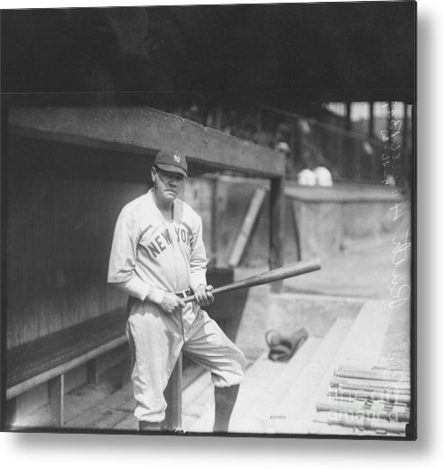 People Metal Print featuring the photograph Babe Ruth by Louis Van Oeyen/ Wrhs