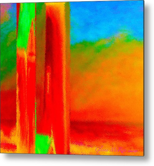 Abstract Metal Print featuring the painting Abstract Splendor II by Glenna McRae