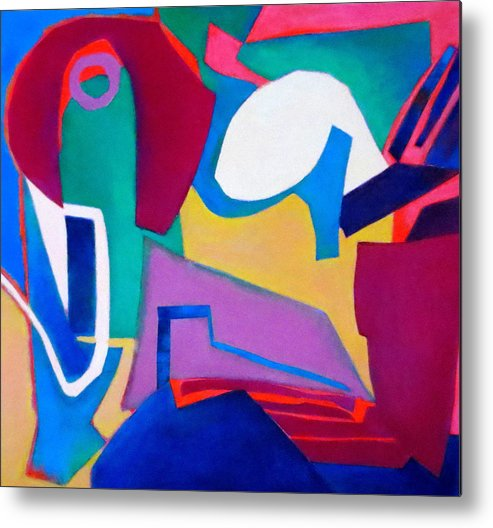Abstract Expressionism Metal Print featuring the mixed media Composition In See by Diane Fine