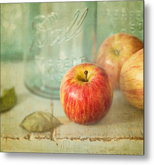 Apple Metal Print featuring the photograph Country Comfort by Amy Weiss
