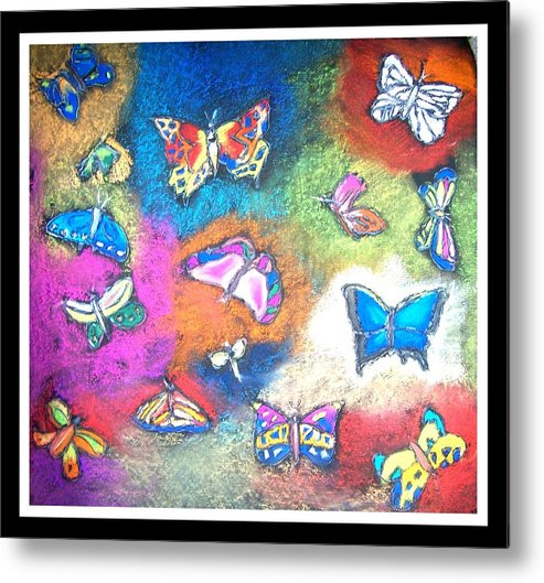 Metal Print featuring the painting Cross Process by Juna Dutta
