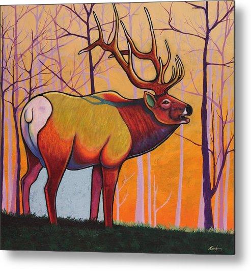 Wildlife Metal Print featuring the painting Eternal Warrior by Joe Triano