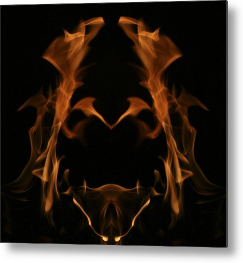 Fire Metal Print featuring the photograph Fire Hobbit by Richard ONeil