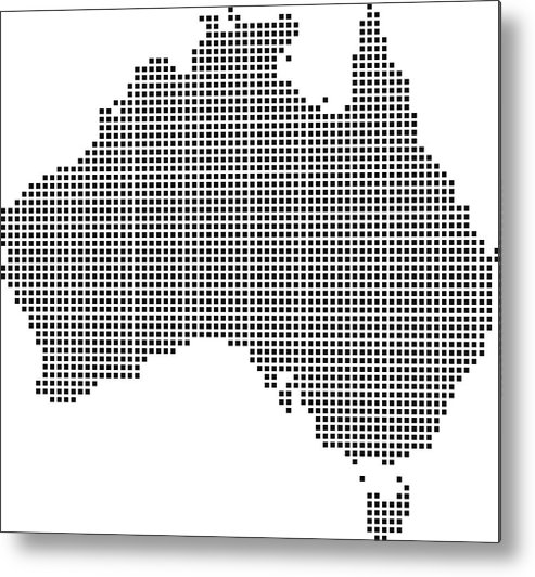 Australia Map Vector.Highly Detailed Australia Map Dots Dotted Australia Map Vector Outline Pixelated Australia Map In Black And White Illustration Background Metal