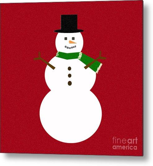 Christmas Metal Print featuring the digital art Holiday Hugs by Amanda Barcon