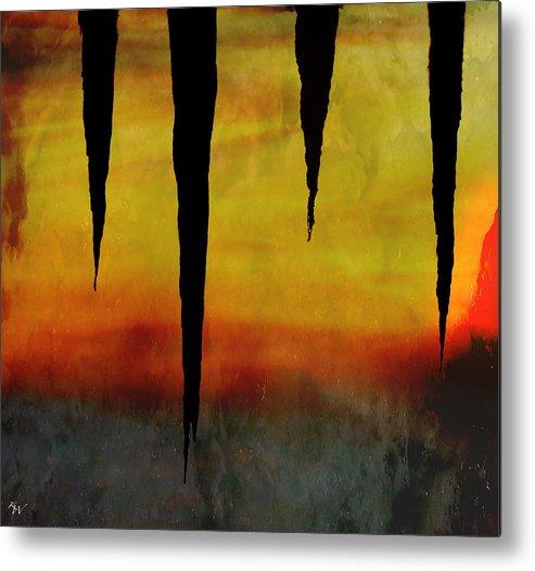 Primal Metal Print featuring the digital art Primal by Ken Walker