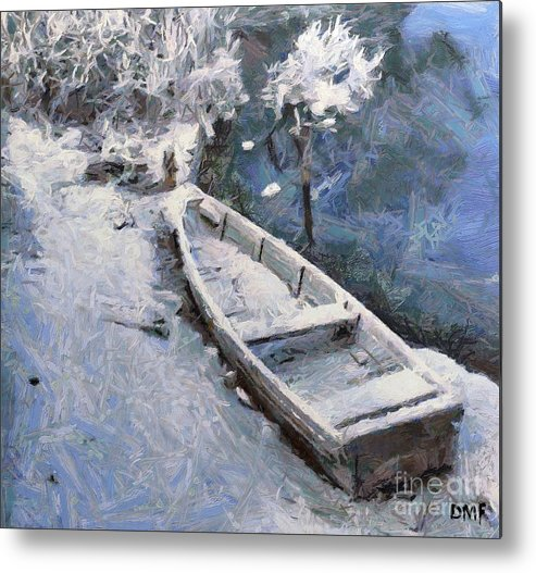 Boat Metal Print featuring the painting Waiting For A Spring by Dragica Micki Fortuna