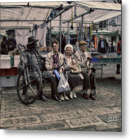 Advice For Seniors Metal Print featuring the photograph Which One Is The Statue by Doc Braham