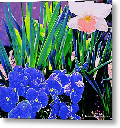 Floral Metal Print featuring the photograph Caught In The Spotlight by Diane montana Jansson