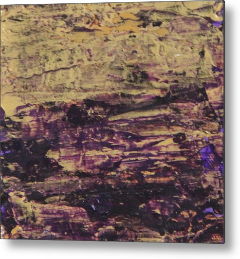 Purple Metal Print featuring the painting John.9 by Tracy Fetter