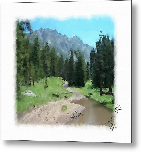 Digital Painting Metal Print featuring the painting Montana Mudhole by Susan Kinney