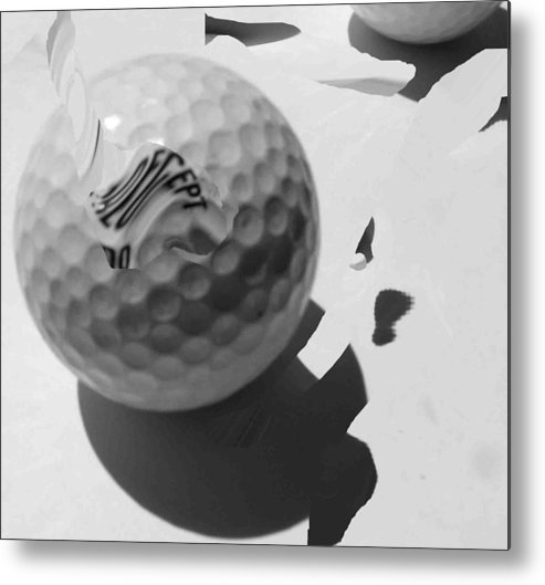 Golf Metal Print featuring the photograph A Golf Ball On Holiday by Evguenia Men