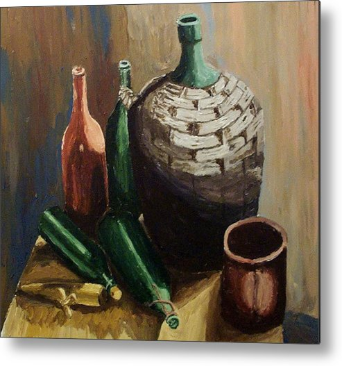 Still Life Metal Print featuring the painting A Still Life IIi by Mats Eriksson
