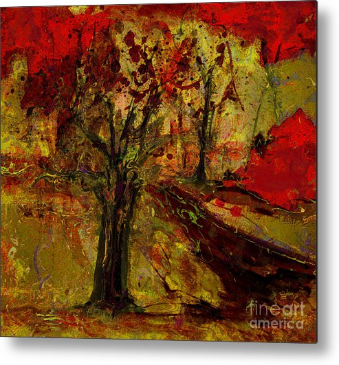 Tree Metal Print featuring the painting Abstract Tree by Julie Lueders