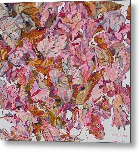 Autumn Metal Print featuring the painting Autumn Leafes by Vitali Komarov