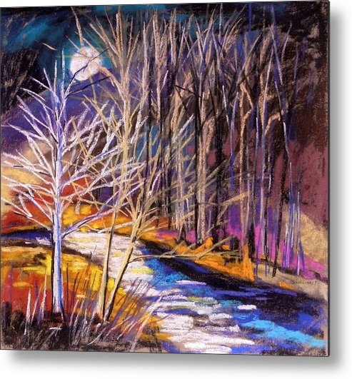 Pastels Metal Print featuring the painting Blue Moon Night by John Williams