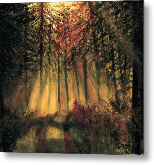 Country Road  Metal Print featuring the painting Country Road by Ione Citrin
