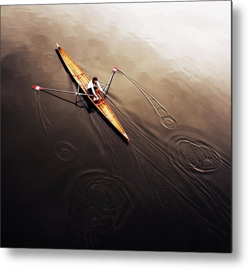 Action Metal Print featuring the photograph Dragonfly by Fulvio Pellegrini