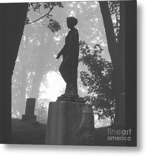 Cemetery Metal Print featuring the photograph Fog In The Cemetery by Jill Greenaway