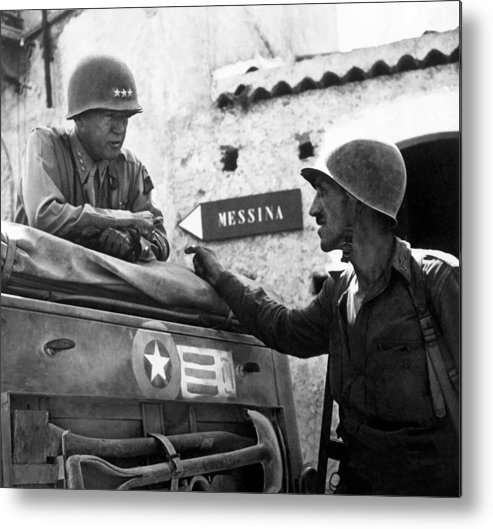 General Patton Metal Print featuring the painting General Patton In Sicily by War Is Hell Store