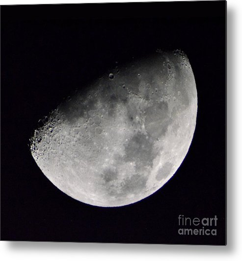 Half Moon Metal Print featuring the photograph Half Moon Number 5 by Christopher Shellhammer