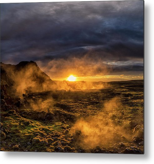 Iceland Metal Print featuring the photograph Land Of Fire And Ice by Bragi Kort