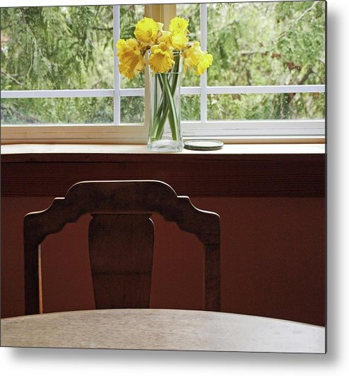 Flowers Daffodils Metal Print featuring the photograph March by Laurie Stewart