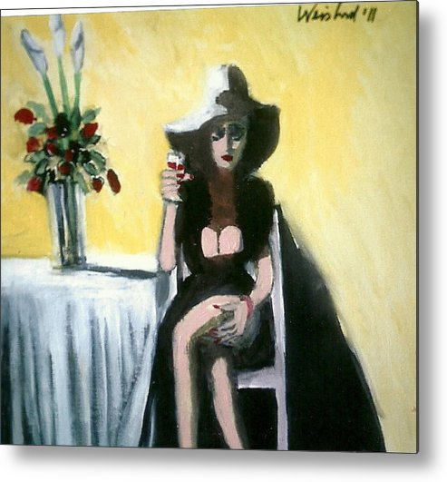 Food Metal Print featuring the painting Miss Lonely Hearts by Harry Weisburd