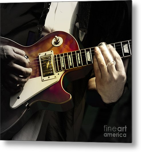 Guitar Metal Print featuring the photograph Necking The Blues by Steven Digman
